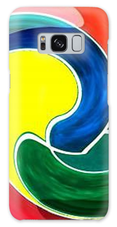 Digitalized Galaxy S8 Case featuring the digital art Abbs by Andrew Johnson