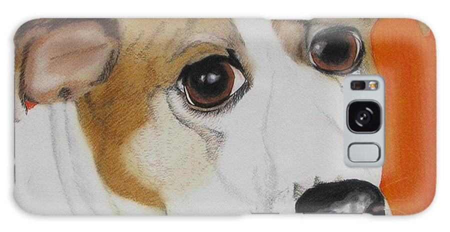 Dog Portrait Galaxy S8 Case featuring the painting Abner by Michelle Hayden-Marsan