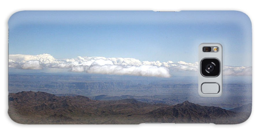Nevada Desert Clouds Scenery Hills Landscape Sky Canyon Galaxy S8 Case featuring the photograph Above Nevada by Andrea Lawrence