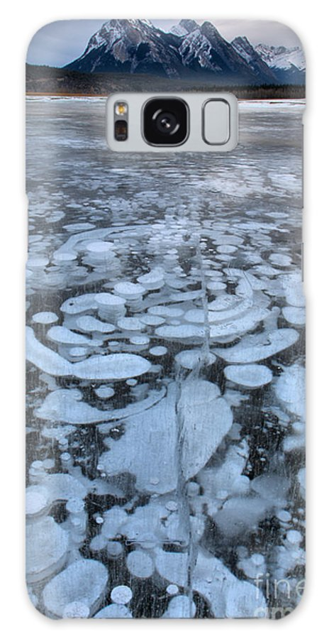 Abraham Lake Galaxy S8 Case featuring the photograph Abraham Lake Ice Bubbles by Adam Jewell