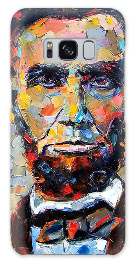President Galaxy Case featuring the painting Abraham Lincoln portrait by Debra Hurd