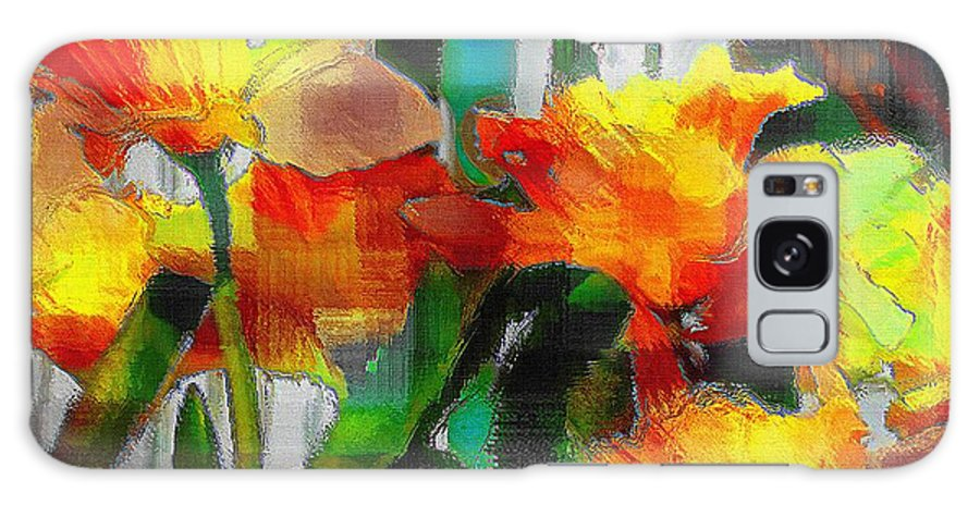 Absinthe Galaxy S8 Case featuring the painting Absinthe Daffies by RC DeWinter