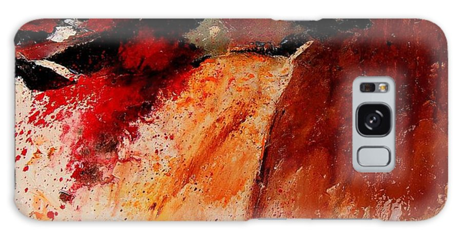 Abstract Galaxy Case featuring the painting Abstract 010607 by Pol Ledent
