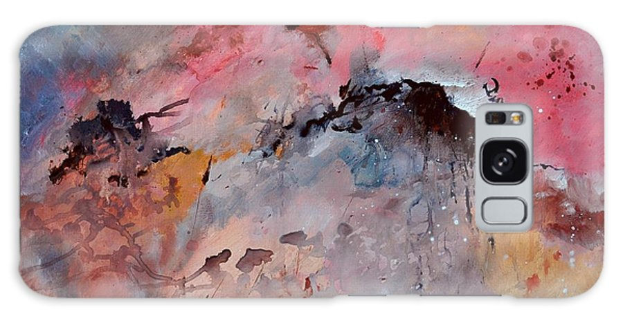 Abstract Galaxy S8 Case featuring the painting Abstract 015082 by Pol Ledent