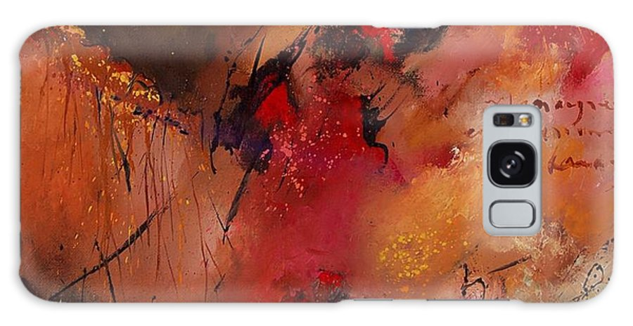 Abstract Galaxy S8 Case featuring the painting Abstract 0408 by Pol Ledent