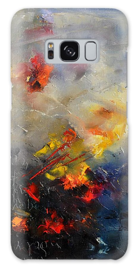 Abstract Galaxy S8 Case featuring the painting Abstract 0805 by Pol Ledent