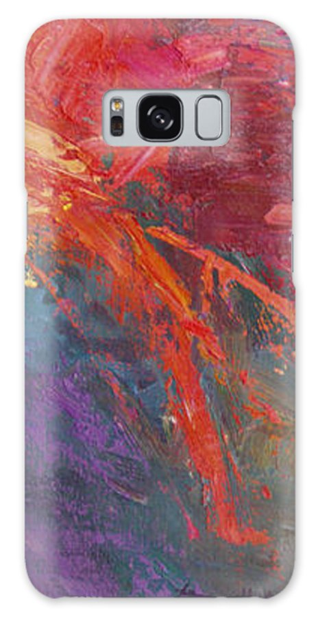 Abstract Galaxy S8 Case featuring the painting Abstract 103a by Betty Jean Billups