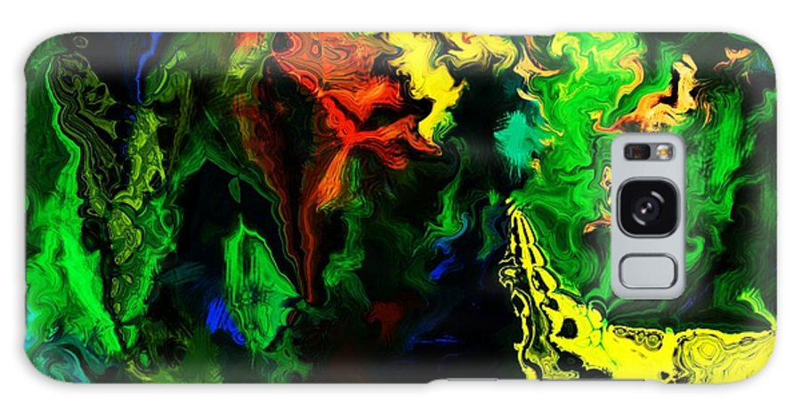 Abstract Galaxy Case featuring the digital art Abstract 2-23-09 by David Lane