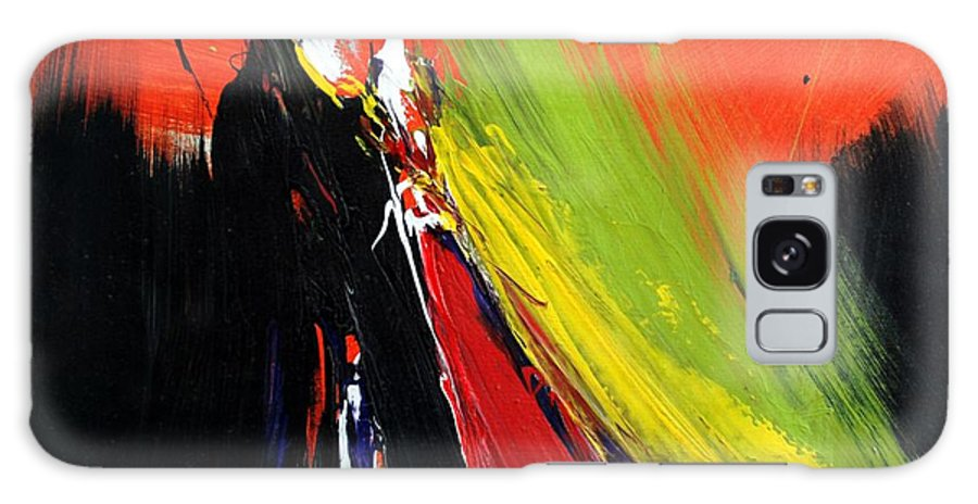Abstract Galaxy S8 Case featuring the painting Abstract 2002 by Mario Zampedroni
