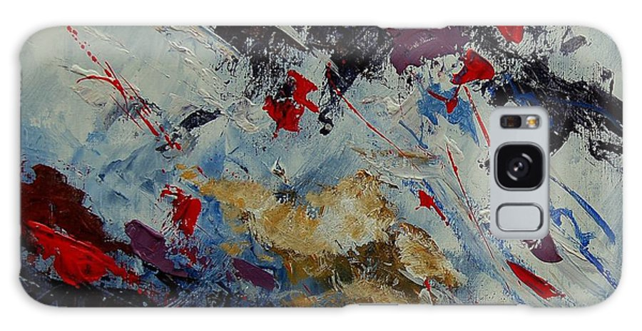 Abstract Galaxy S8 Case featuring the painting Abstract 33900122 by Pol Ledent