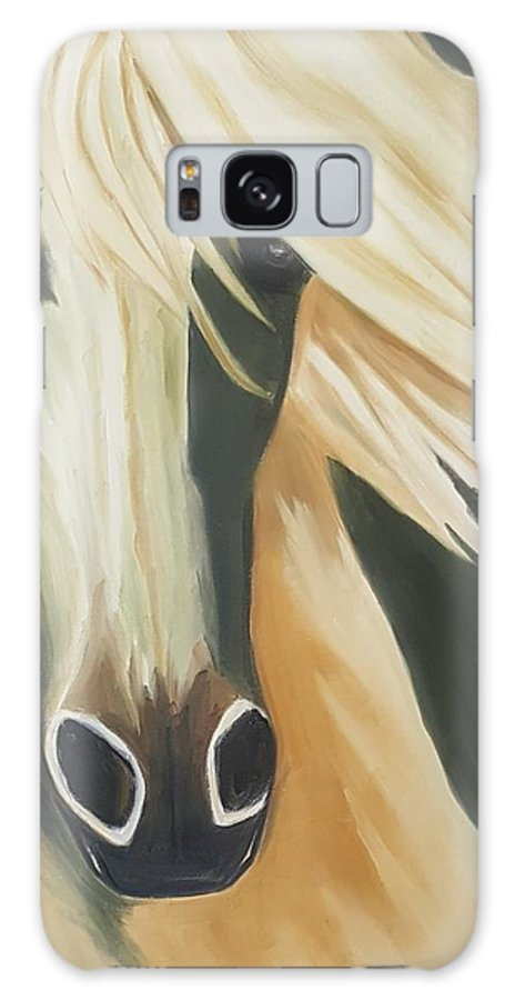 Abstract Galaxy S8 Case featuring the painting Abstract 3 by Rezan Ozger