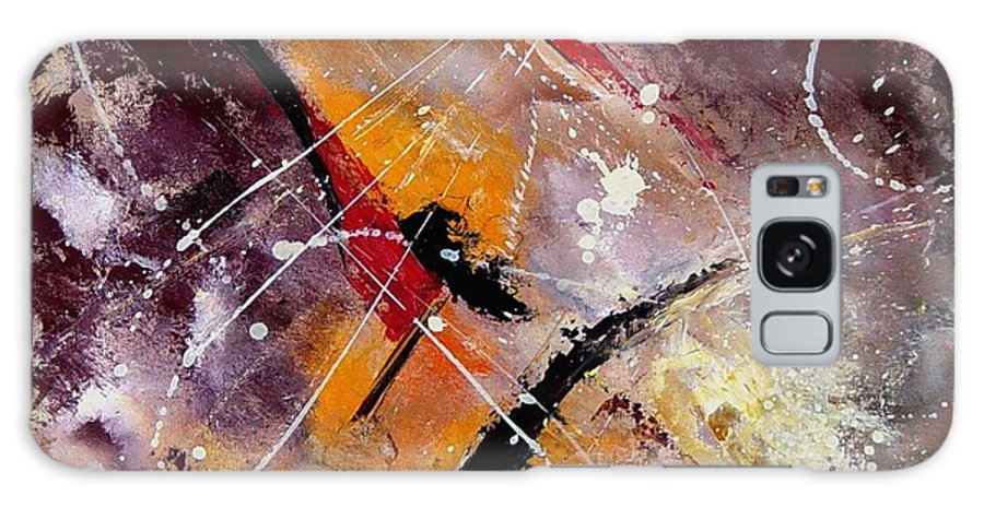 Abstract Galaxy S8 Case featuring the painting Abstract 45 by Pol Ledent
