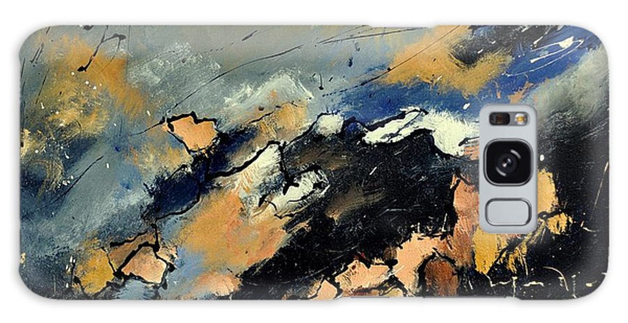Abstract Galaxy S8 Case featuring the painting Abstract 6601112 by Pol Ledent