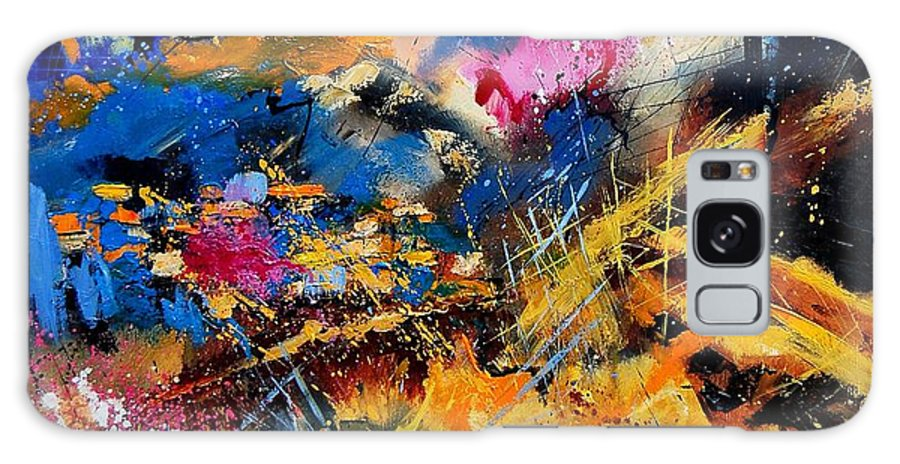 Abstract Galaxy Case featuring the painting Abstract 7808082 by Pol Ledent