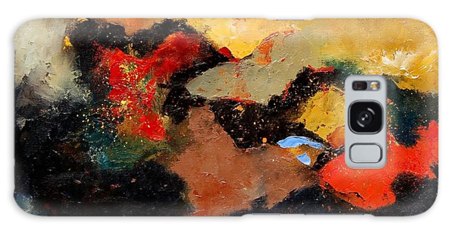 Abstract Galaxy S8 Case featuring the painting Abstract 8080 by Pol Ledent