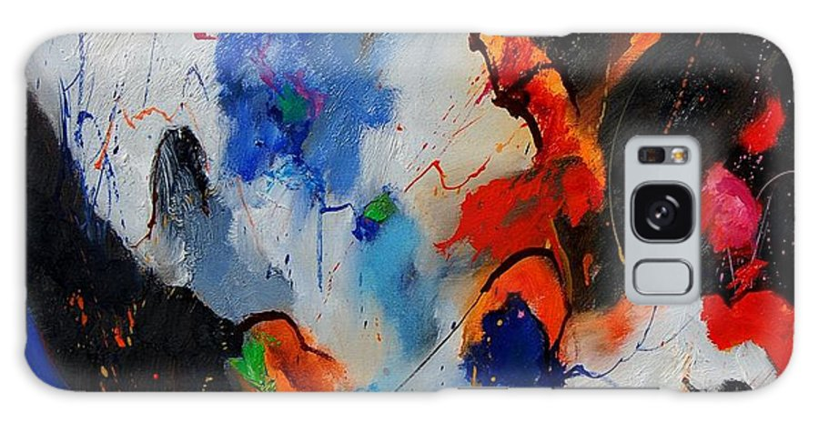 Abstract Galaxy Case featuring the painting Abstract 905060 by Pol Ledent