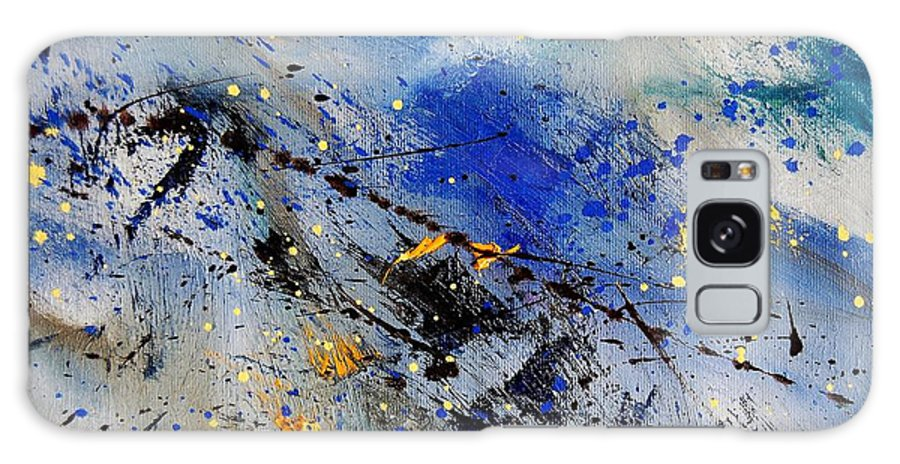 Abstract Galaxy S8 Case featuring the painting Abstract 969090 by Pol Ledent