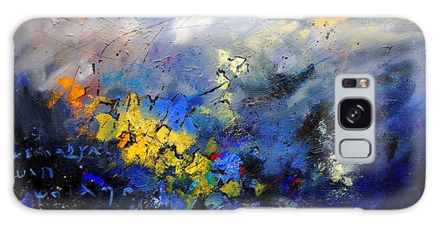 Abstract Galaxy Case featuring the painting Abstract 970208 by Pol Ledent