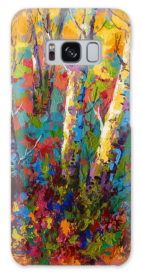 Trees Galaxy S8 Case featuring the painting Abstract Autumn II by Marion Rose