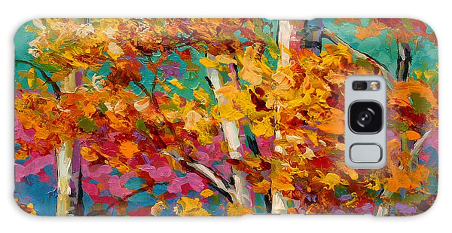 Trees Galaxy Case featuring the painting Abstract Autumn IIi by Marion Rose