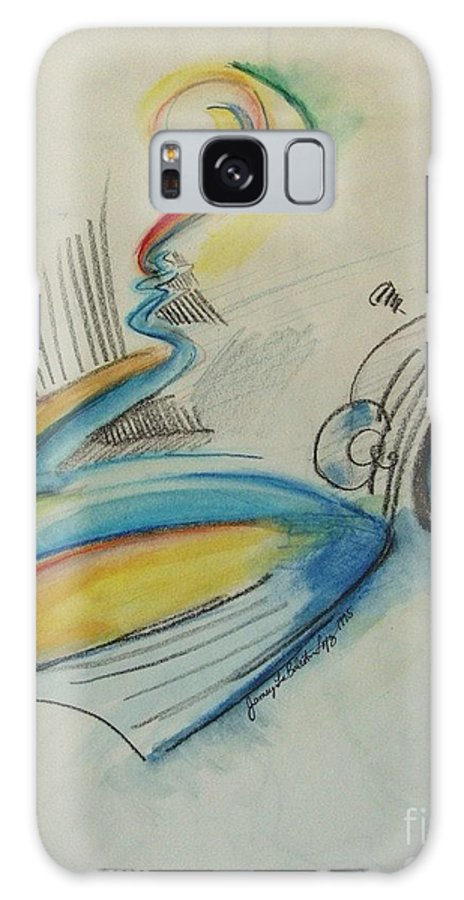 Bass Galaxy S8 Case featuring the drawing Abstract Bass by Jamey Balester