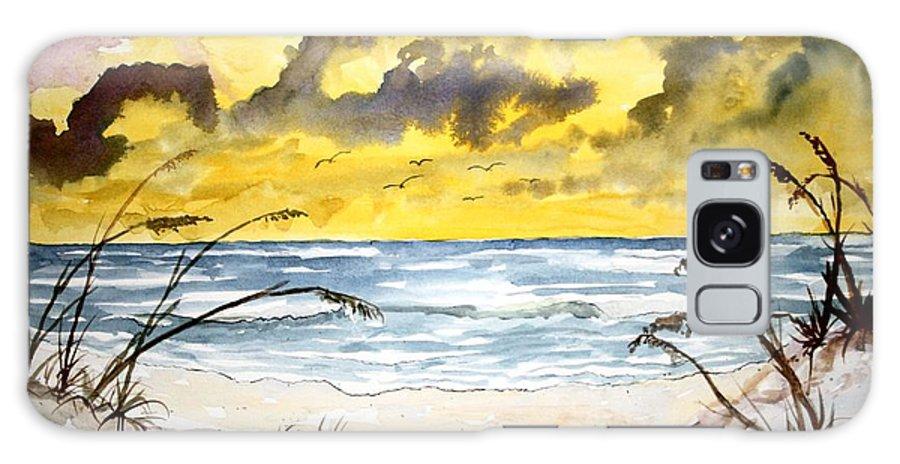 Beach Galaxy S8 Case featuring the painting Abstract Beach Sand Dunes by Derek Mccrea