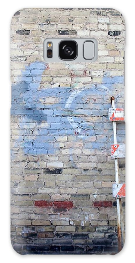 Industrial Galaxy Case featuring the photograph Abstract Brick 2 by Anita Burgermeister