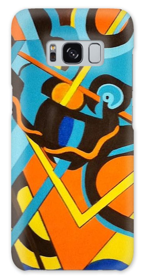 Abstract Acrylic Painting Galaxy S8 Case featuring the painting Abstract Colors In Motion by Deb Schneider