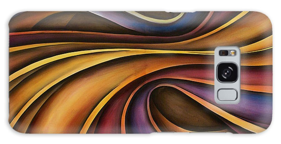 Abstract Art Galaxy Case featuring the painting Abstract Design 15 by Michael Lang