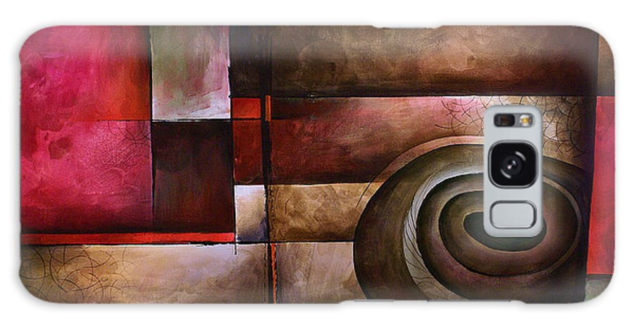 Art Galaxy Case featuring the painting Abstract Design 24 by Michael Lang