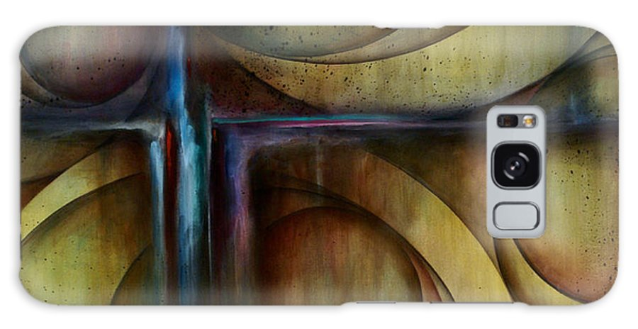 Art Galaxy S8 Case featuring the painting Abstract Design 26 by Michael Lang