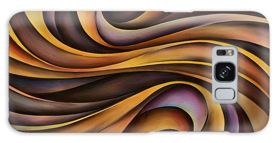 Art Galaxy S8 Case featuring the painting Abstract Design 31 by Michael Lang