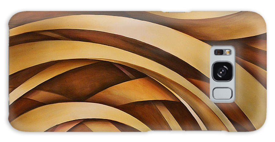 Design Galaxy S8 Case featuring the painting Abstract Design 39 by Michael Lang