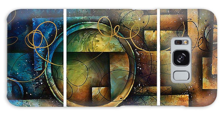 Large Original Painting Abstract Design Galaxy S8 Case featuring the painting Abstract Design 4 by Michael Lang