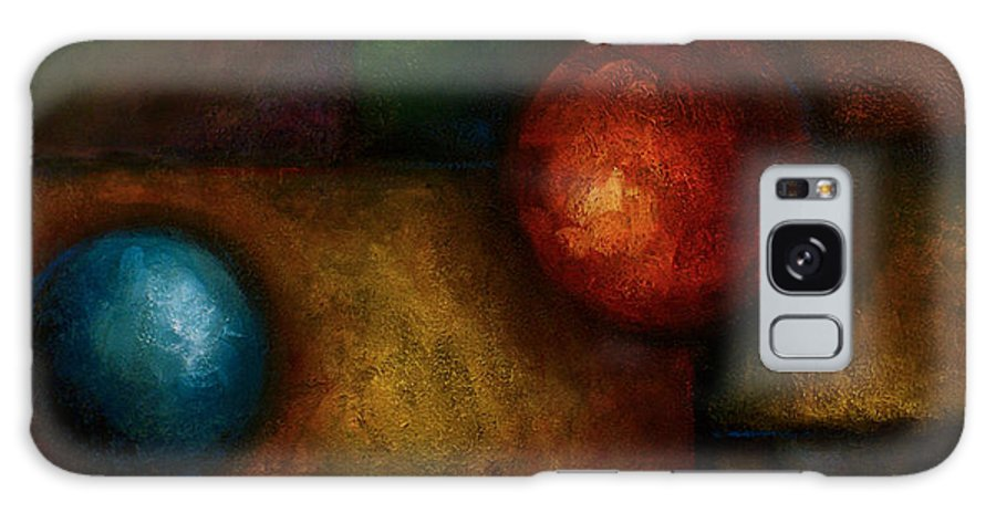 Abstract Basic Shapes Geometric Galaxy S8 Case featuring the painting Abstract Design 58 by Michael Lang