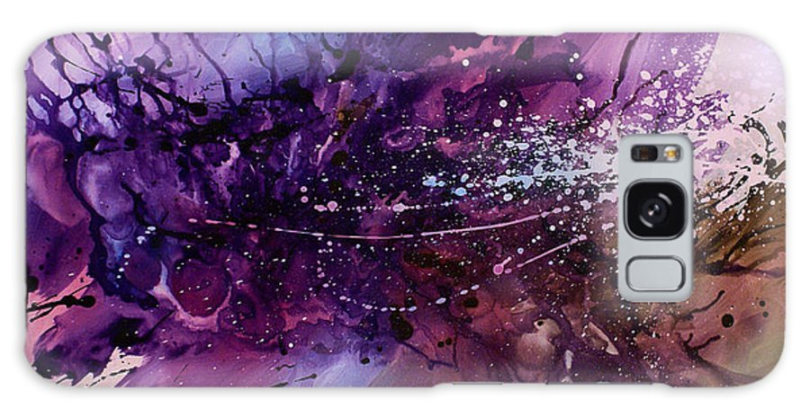 Paintings Galaxy S8 Case featuring the painting Abstract Design 66 by Michael Lang