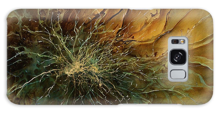 Abstract Art Galaxy Case featuring the painting Abstract Design 8 by Michael Lang