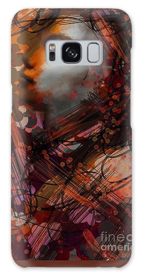 Uzart Galaxy S8 Case featuring the digital art Abstract Face #0066 by Urszula Zogman