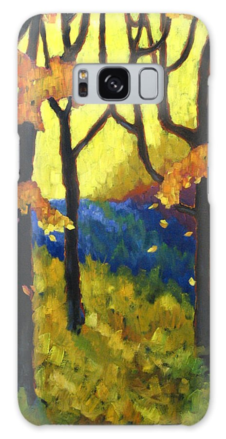 Art Galaxy S8 Case featuring the painting Abstract Forest by Richard T Pranke