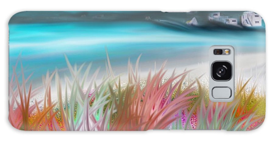 Original Galaxy S8 Case featuring the painting Abstract Grass Series 17 by ElsaDe Paintings