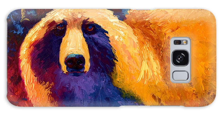 Western Galaxy Case featuring the painting Abstract Grizz II by Marion Rose