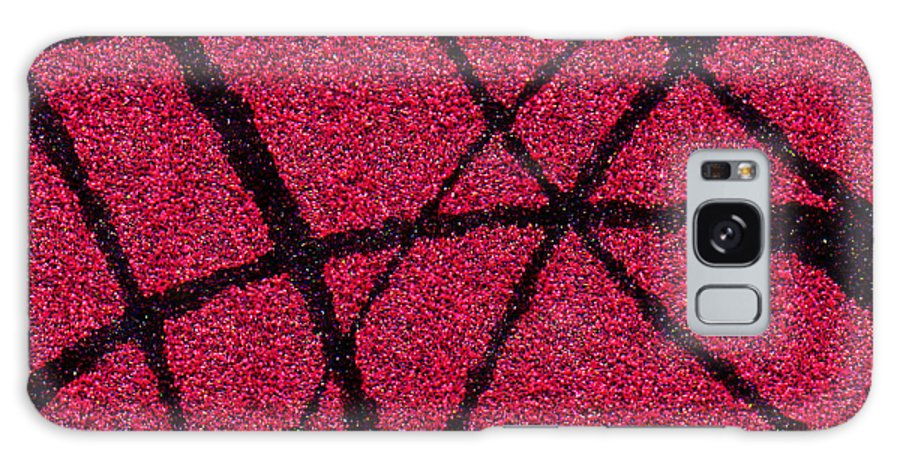 Abstract Galaxy Case featuring the painting Abstract In Red And Black by Wayne Potrafka
