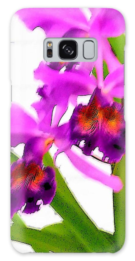 Flowers Galaxy Case featuring the digital art Abstract Iris by Anita Burgermeister