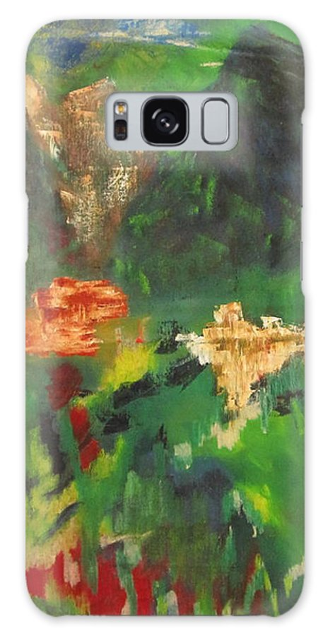 Abstract Galaxy S8 Case featuring the painting Abstract Landscape by Patricia Cleasby