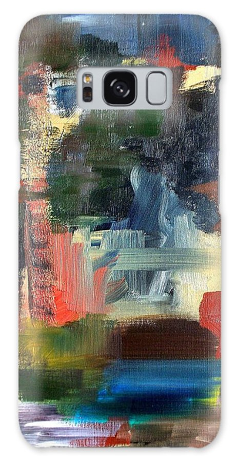 Art Galaxy Case featuring the painting Abstract Landscape by RB McGrath