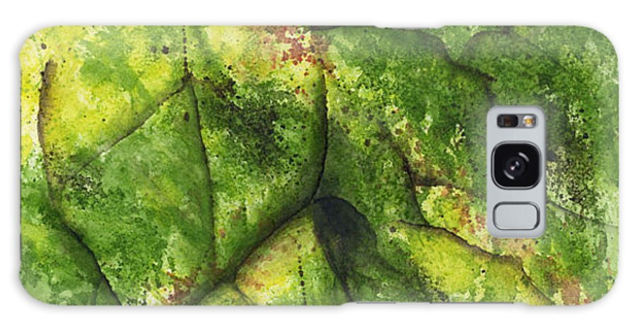 Leaves Galaxy Case featuring the painting Abstract Leaf by Mary Tuomi