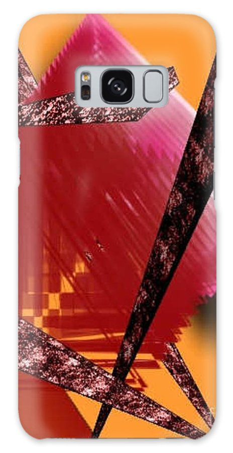 Abstracts Galaxy S8 Case featuring the digital art Abstract-n-gold by Brenda L Spencer