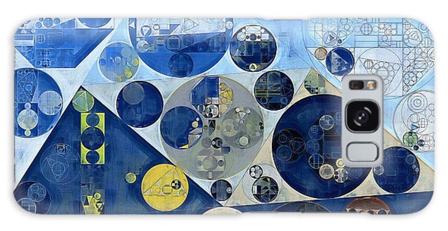Acrylic Galaxy S8 Case featuring the digital art Abstract Painting - Kashmir Blue by Vitaliy Gladkiy