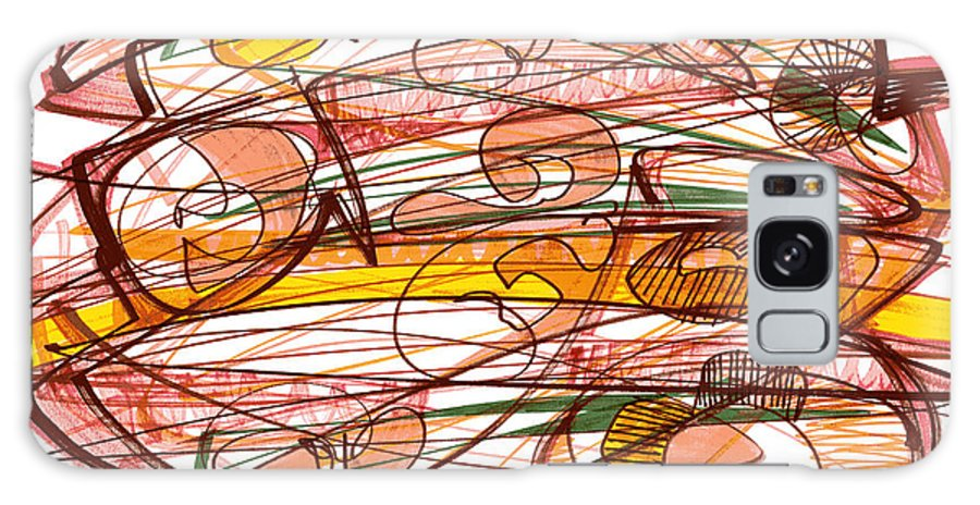 Abstract Art Galaxy S8 Case featuring the drawing Abstract Pen Drawing Eight by Lynne Taetzsch