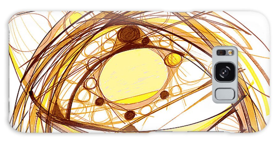 Abstract Art Galaxy S8 Case featuring the drawing Abstract Pen Drawing Eleven by Lynne Taetzsch